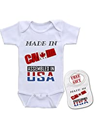 Top Quality Unisex Onesie Made in Canada Baby Shower Infant Bodysuit