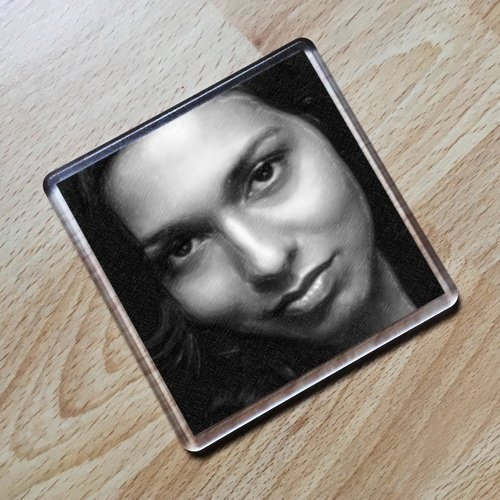 REKHA SHARMA - Original Art Coaster #js001 ()