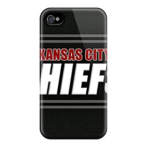Top Quality Case Cover For Iphone 4/4s Case With Nice Kansas City Chiefs Appearance