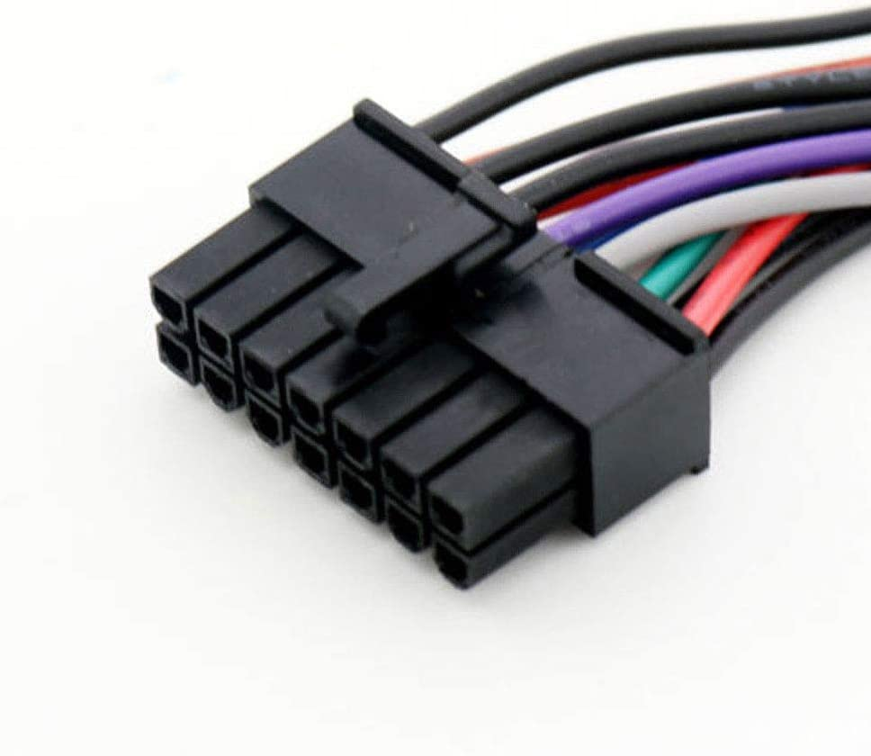 Cable Length: 15cm, Color: Black Connectors Durable 24 Pin to 14 Pin PSU Main Power Supply ATX Adapter Cable for Lenovo IBM