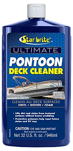Pontoon Boat Cleaner - Star Brite Ultimate Pontoon Deck Cleaner - 32 oz - Cleans & Protects All Deck Surfaces 96332