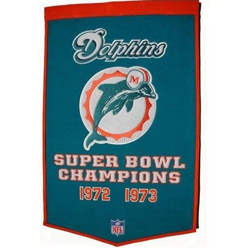 (Winning Streak NFL Miami Dolphins Dynasty Banner)