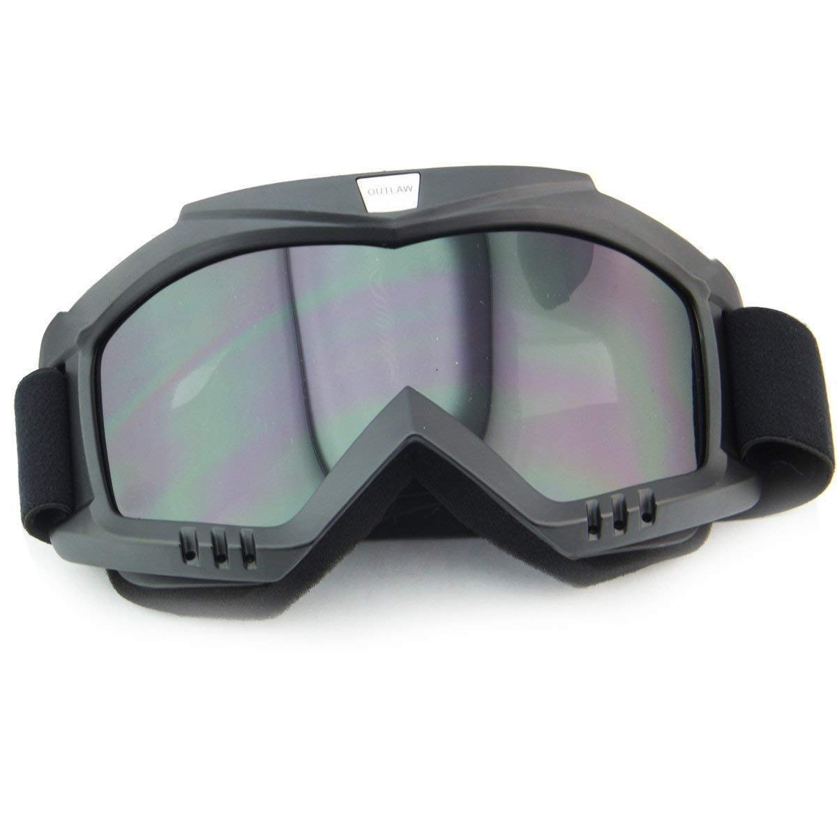 Outlaw 50 Nemesis Vintage Face Mask with Detachable Motorcycle Goggles and UV 4 One Size Outlaw Helmets