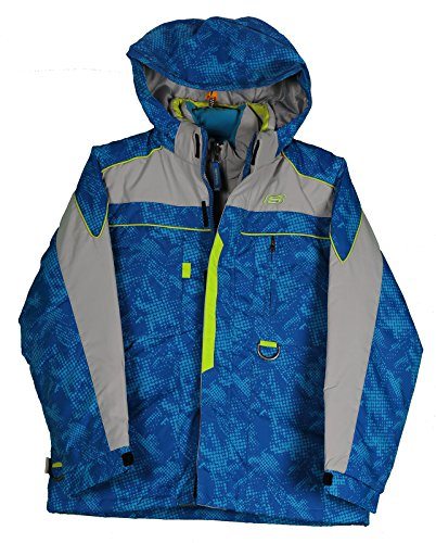 Skechers Big Boy's 4-In-1 System Jacket, Blue, Size Large (4in 1 Winter Jacket)