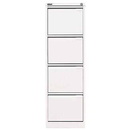 Armario con mueble archivador Bisley color (estructura): blanco, (parte frontal)