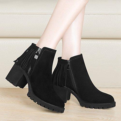 Chelsea Talon Inconnu Femmes Bottines Su Boots Demi Bloc w5FzPXFqx