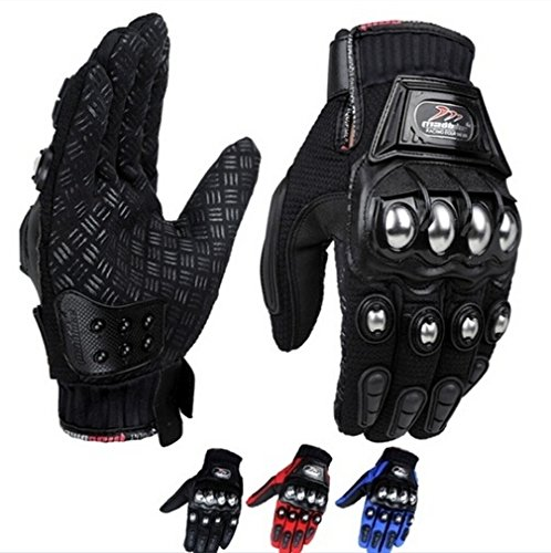 maket MADBIKE Stainless Steel Motorcycle Gloves Black Blue Motocross Gloves Guanti Motorbike Protective Guantes Luvas Para Moto