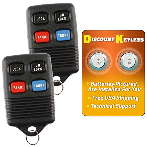 Discount Keyless Replacement Trunk Key Fob Car Entry Remote Compatible with Ford GQ43VT4T (2 Pack) - Mercury Sable Trunk