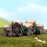 Cheap Floralby Fairy Garden Ornament, Miniature Resin Stump Micro Landscape Bonsai DIY Dollhouse Decor