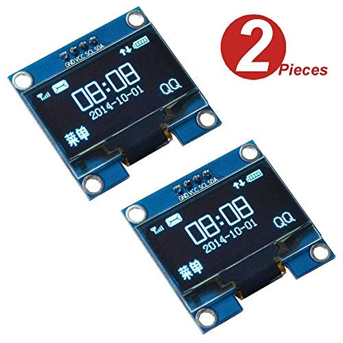 WINGONEER® 2Pcs 1.3 Inch IIC I2C Serial 128x64 SSH1106 OLED LCD Display LCD Module for Arduino AVR PIC STM32 - Blue Font