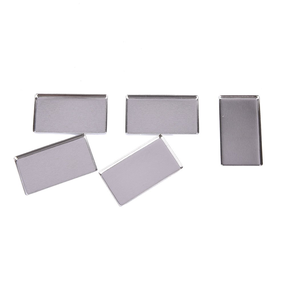 5 Pcs Empty Rectangle Metal Tin DIY Palette Press Pans Responsive To Magnets For Palettes,41X23MM by Team-Management