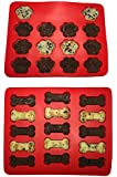 Win&Co Puppy Paws & Bones ® Silicone Baking Molds-Pan-Ice Trays Set of 2