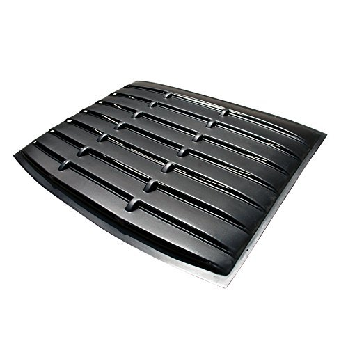 Spec-D Tuning WLUR-MST05BK-RS Ford Mustang Gt/ Base Rear Window Louver Black (2006 Mustang Louvers compare prices)