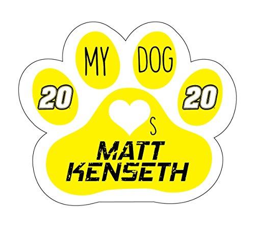 Matt Kenseth Keychain - NASCAR #20 Matt Kenseth Dog Paw Magnet-My Dog Loves Matt Kenseth Magnet-NEW for 2016!