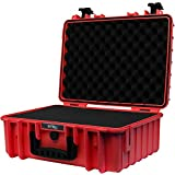STR8Brand 17'' Weather Resistant, Smellproof, Lockable, Glass Protector, Outdoor Carrying Case for Multi-Purpose with Pluck Foam (Fury RED) - STR8 Brand