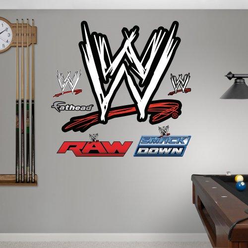 """Fathead Wall Decal, Real Big, """"WWE Logo"""""""
