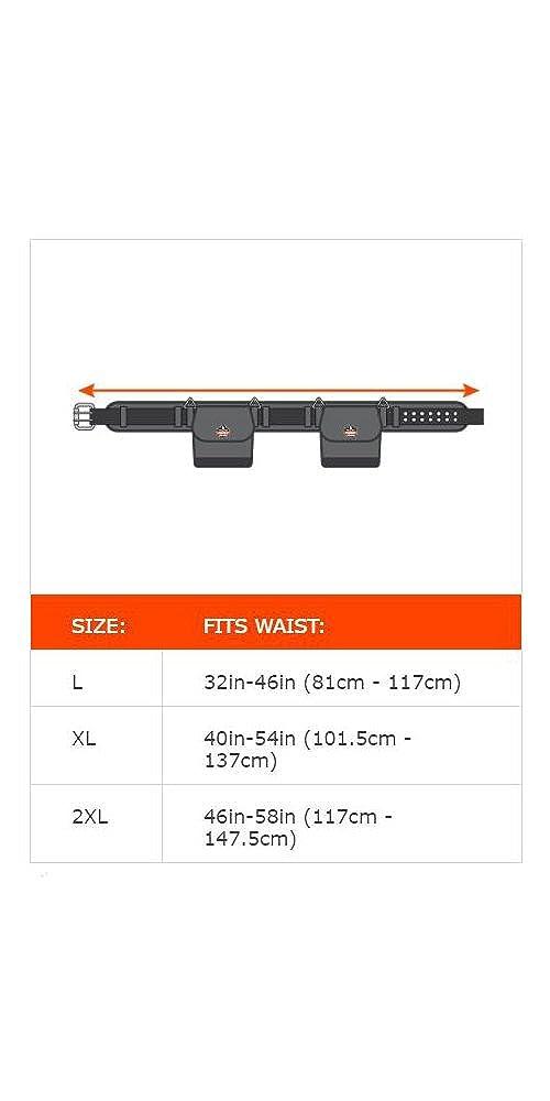 Ergodyne Arsenal/® 5550 Werkzeugsg/ürtel Schwarz 7,6 cm breit