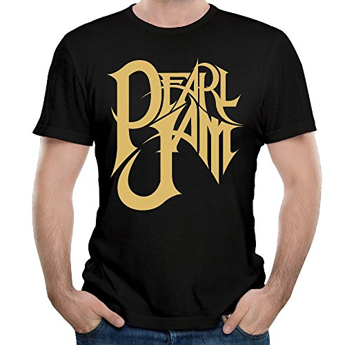 Mans Pearl Jam Logo Vintage Short Sleeve Top T-Shirts Young Funny Tees S (Vintage Pearl Jam)