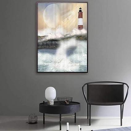 Amazon Com Skain Nautical Canvas For Painting Bronze Ocean Waves