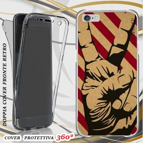 CUSTODIA COVER CASE PEACE HAND PER IPHONE 6 FRONT BACK