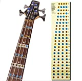 L'MS Guitar Fretboard Note Decals Fingerboard Frets Map Sticker for Beginner Learner Practice Fit 4 Strings Bass Guitar