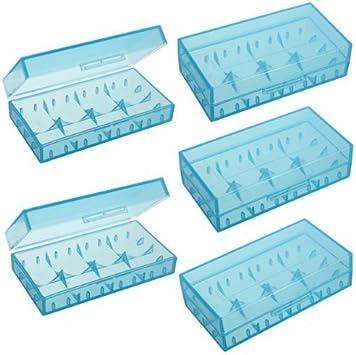 5pcs New Blue Plastic Battery Case//Box For CR123A 16340 Li-ion Battery