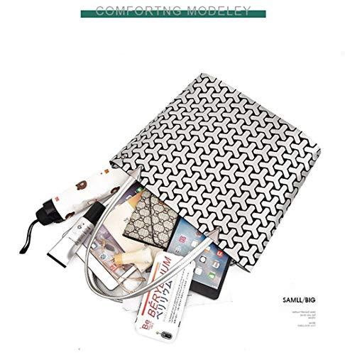 Géométriques Silver1 Femme À Pliants Capacité De Khaki Main Bandoulière Sacs Grande Matte qXwCP