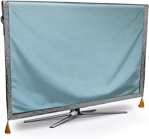 Ting Ting Cubiertas Protectoras LCD TV Cover Monitor De Cubierta Antipolvo Color Sólido Inicio Arte De La Tela Tingting-Funda para Monitor (Color : Light Blue, Size : 60 Inches): Amazon.es: Hogar
