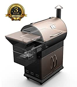 Z GRILLS Pellet Grill and Smoker BBQ with Digital Controls,700 Sq grilling Area (Black & Bronze)