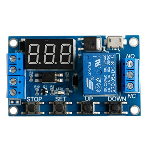 cici store 6-30V Adjustable Relay Timer Cycle Module Switch Trigger Time Delay Circuit Board
