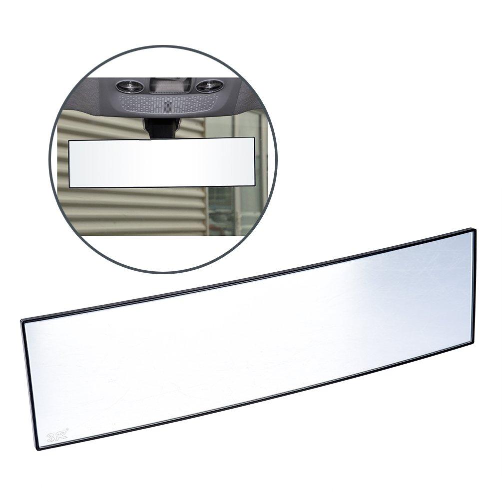 CARGOOL Car Mirror, Wide Angle Rear View Mirror 11 x 3 Inch Car Interior Mirror Anti-dazzling Blind Spot Mirror UXX1406U117R0H