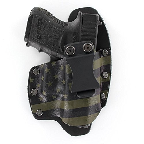 USA Green & Black IWB Hybrid Concealed Carry Holster (Right-Hand, Glock 17,19,22,23,25,26,27,28,31,32,34,35,41 (19X,17,19,26 Gen5)