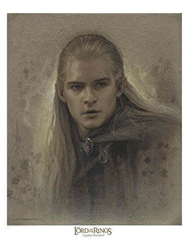 Legolas Greenleaf 17 x 22 Antique Paper Giclee Art print - The Lord of the Rings