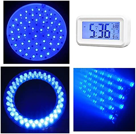 Waycreat 100 Pieces Diffused LED Diode Emitting Lights for High Intensity Super Bright Lighting Bulb Electronics Components Lamp Diodes Blue 5mm