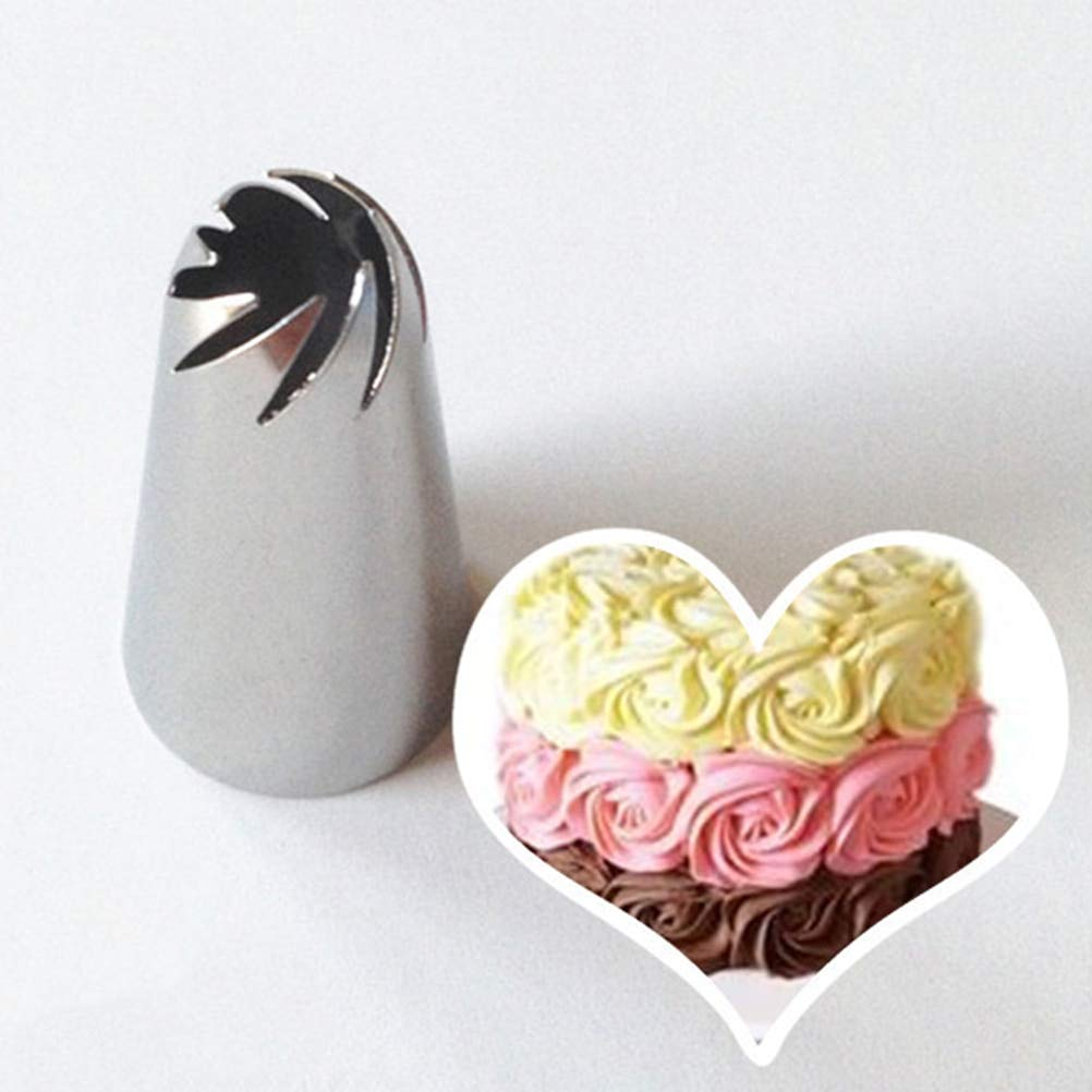 MOMA 1 Pcs DIY Stainless Steel Spiral Icing Piping Cream Cake Nozzles Cupcake Pastry Fondant Craft Decorating Tool NEW BRAND