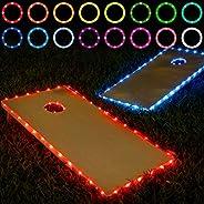 Frienda Cornhole Lights, 16 Colors Change Cornhole Board Edge and Ring LED Lights with Remote Control for Fami