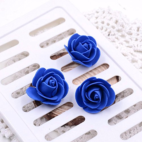 Artificial Rose Flowers Fake flowers heads Mini PE Foam Rose Flower Head Handmade DIY party festival Home Decor Wedding Home Decoration Festive & Party Supplies 50pcs/lot (royal blue) from Artificial Rose Flowers