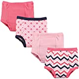 Luvable Friends Baby Cotton Training Pants, Girl Chevron 4-Pack, 4 Toddler (4T)