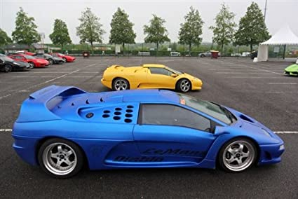 Amazon Com Lamborghini Diablo Evolution Gtr Blue Right Side Hd