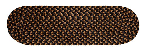 Santa Maria Braided Reverisble Stair Treads Soft Step Cushions/Runners for Stair Case in Brown Fudge, 8
