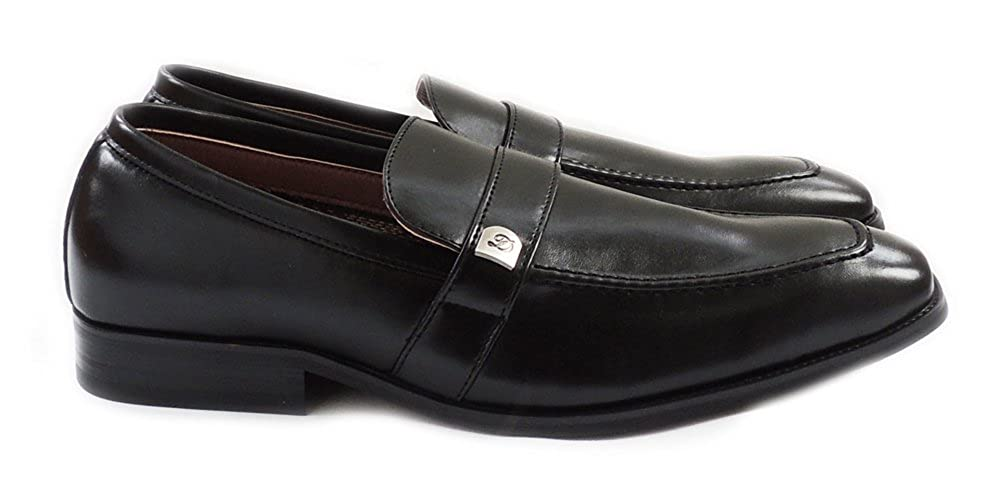 Delli Aldo New Mens Penny Loafers Boat Slip ON Leather Lined Comfort Dress Shoes M19501 Black