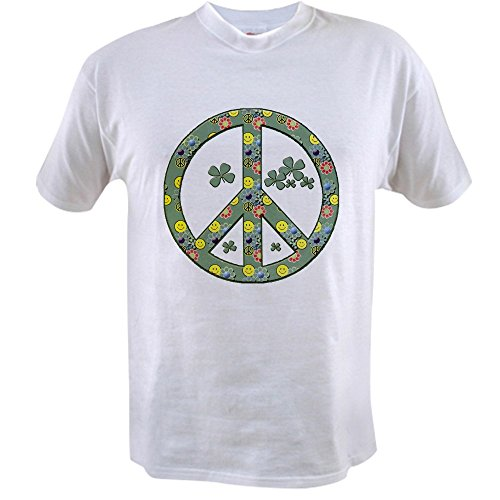 Royal Lion Value T-Shirt Peace Symbol Sign Irish Shamrocks - (Ireland Value T-shirt)