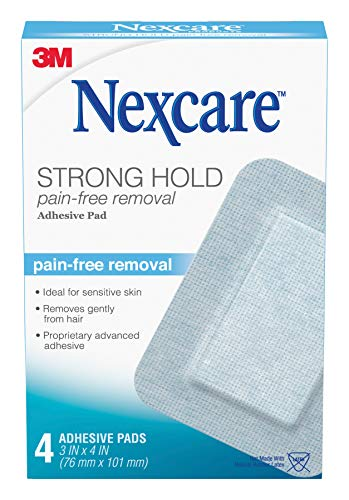 Nexcare Sensitive Skin Adhesive Pads, Made by 3M, 3 Inch X 4 Inch, 4 Pack