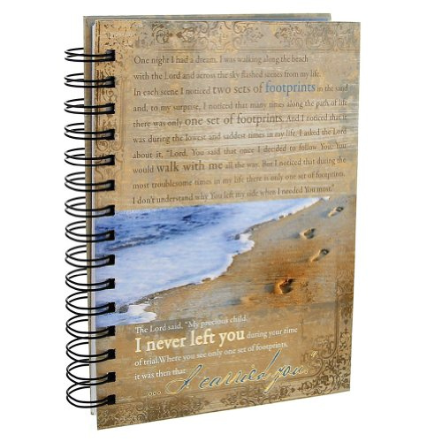 Wire Art Bookmarks - Footprints Prayer Hardcover Wirebound Journal