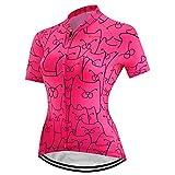Cycling Jersey Women Short Sleeved Bike Shirt Racing Cycling Clothing Comfortable Quick Dry Wear Top Pink