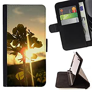 DEVIL CASE - FOR HTC DESIRE 816 - Nature Leaf Sunset - Style PU Leather Case Wallet Flip Stand Flap Closure Cover
