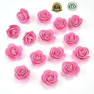 Mini PE Foam Rose Flower Head Artificial Rose Flowers Handmade DIY Wedding Home Decoration Festive & Party Supplies 50pc 3cm(Dark Pink) 2