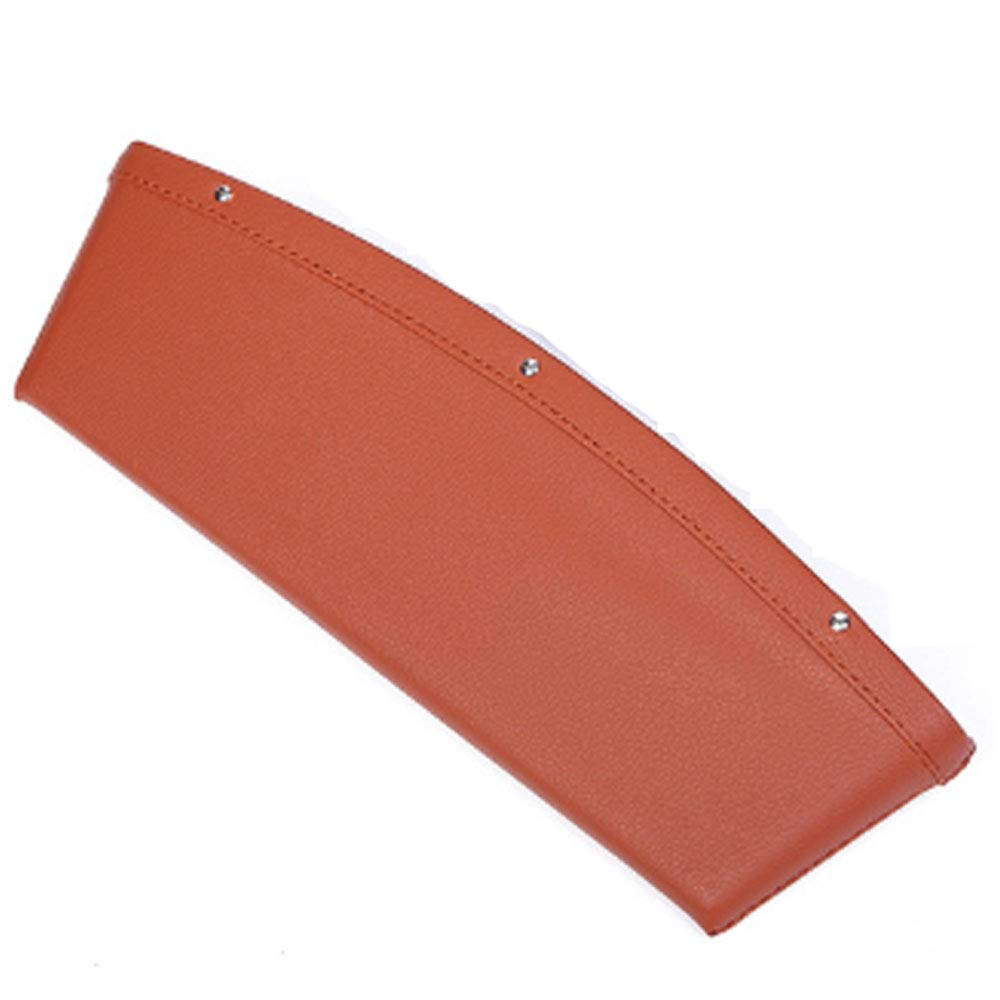 1 Piece Beige Car Seat Console Gap Filler Pocket Organizer Automotive//Console Interior Accessories Gap Filler Premium Poly Synthetic Leather Leather Console Car Pocket Organizer