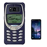 000593 - Vintage Nokia Old School Funny Print Look 3310 SAMSUNG Galaxy S8 ACTIVE SM-G892A CASE Gel Silicone All Edges Protection Case Cover