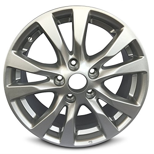 Road Ready Car Wheel For 2010-2013 Nissan Altima 16 Inch 5 Lug Gray Aluminum Rim Fits R16 Tire - Exact OEM Replacement - Full-Size Spare